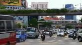 車流 城市街道交通人行天橋 高清實拍視頻素材