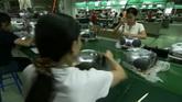 电子生产车间 工人生产运作高清实拍视频素材