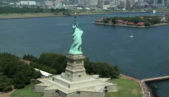世界各地旅游景点 自由女神、斜塔与白宫夜景3个高清实拍视频素材