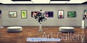 艺术的画廊展览厅展示AE模板Art Gallery