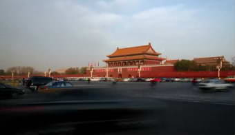 北京天安门前的车流人流高清实拍视频素材