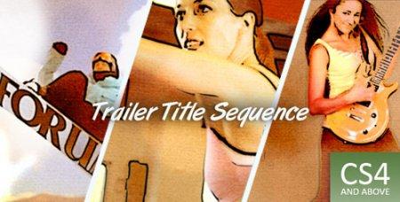 复古水彩预告片Trailer ti<x>tle Sequence