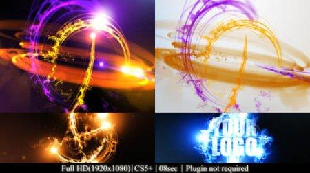七彩条纹标志LOGO展示AE模板Streaks Logo Reveal II