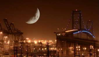 优美的都会夜景高清实拍视频素材