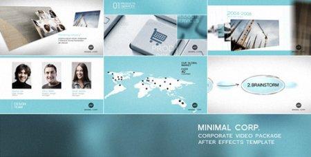 公司企业视频形象整体包装AE模板Minimal Corp - Corporate Video