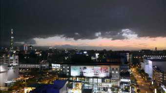 臺北城市夜景高清實拍視頻素材