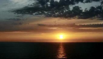 4组日落西山天空的晚霞高清实拍视频素材