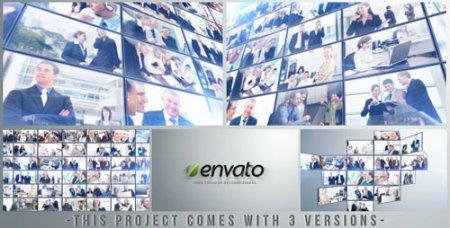 《多个商务公司企业LOGO展示AE模板》Multi Video Logo/Text Open