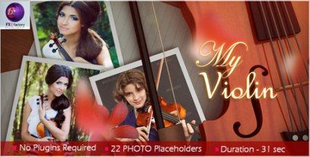 《我和我的小提琴电子相册AE模板》My Violin