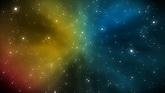 彩色的梦幻星空 高清动态背景视频素材