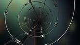 钢丝隧道高清动态背景视频素材