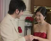 中国新式婚礼-新人互换戒指标清实拍视频素材