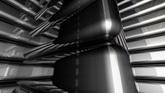黑色塊轉動高清動態背景視頻素材