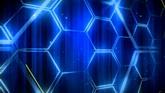 藍色蜂巢光線高清動態背景視頻素材