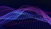 蓝色网格光栅高清动态背景视频素材