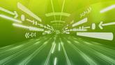 绿色光线通道高清动态背景视频素材