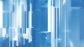 透明蓝色玻璃块流动高清动态背景视频素材