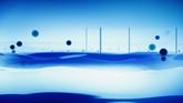 蓝色流动高清动态背景视频素材