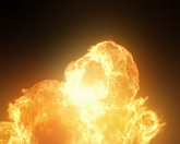 熊熊大火标清实拍视频素材