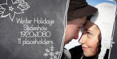 《圣诞节新年家庭相片AE模板》Winter Holidays Slideshow