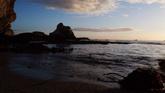 夕阳下的海滩高清实拍视频素材