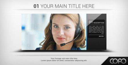 公司商务企业团队宣传片简洁幻灯片展示AE片头模板 Clean Slidesh