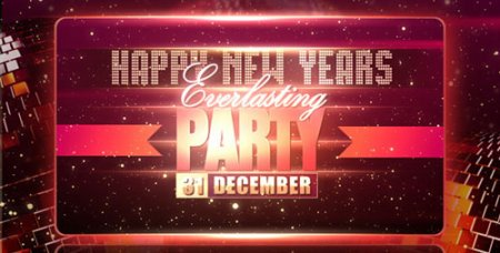 《新年晚会年会AE片头模板》New Years Party