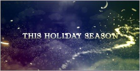 《超炫粒子圣诞节文字展示AE模板》Christmas ti<x>tles