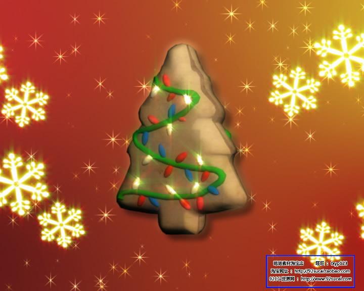 圣诞节日 卡通圣诞树标清动态背景视频素材