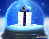 圣誕節日素材 玻璃球中的禮品盒 標清動態背景視頻素材