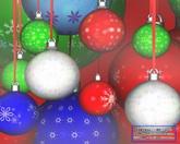 圣诞节日素材 圣诞节?#20301;?#24425;球标清动态背景视频素材