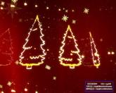 圣诞节日素材 圣诞节红色背景符号飘动 标清动态背景视频素材