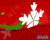 圣诞节日素材 圣诞红色背景标清动态视频素材