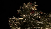 圣誕節日素材 圣誕樹帶雪花高清實拍視頻素材