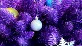 圣诞节日素材 紫色圣诞树高清实拍视频素材