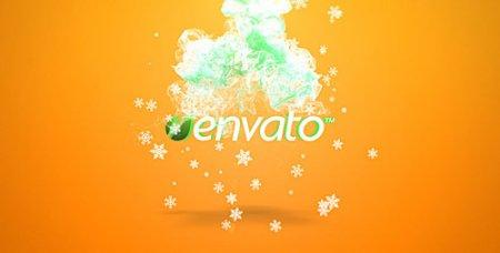 《圣诞烟雾Logo展示AE模板》Christmas Fluid Opener