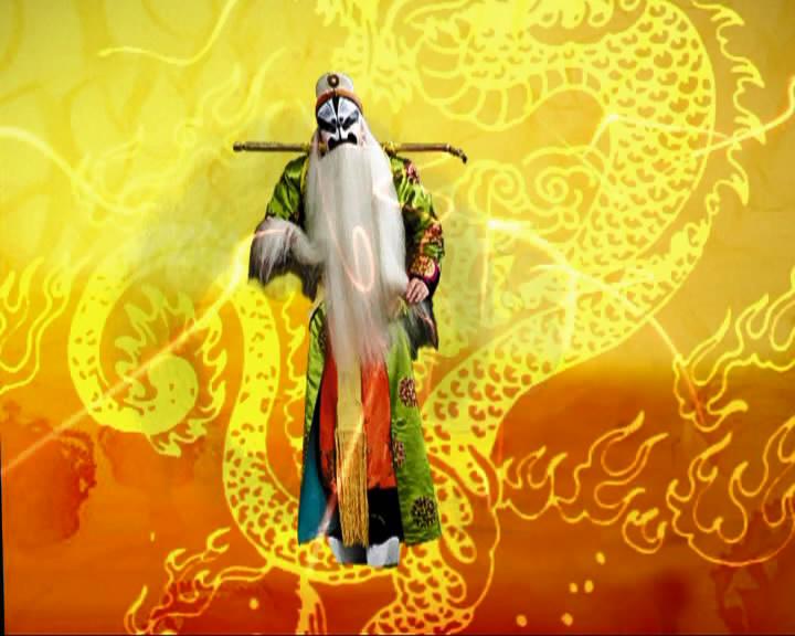 中國古典傳統戲曲 歌仔戲面譜大型舞臺LED背景標清視頻素材