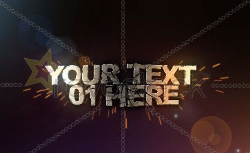 3D TEXT SHATTER Revostock - Free Download After Effects Temp