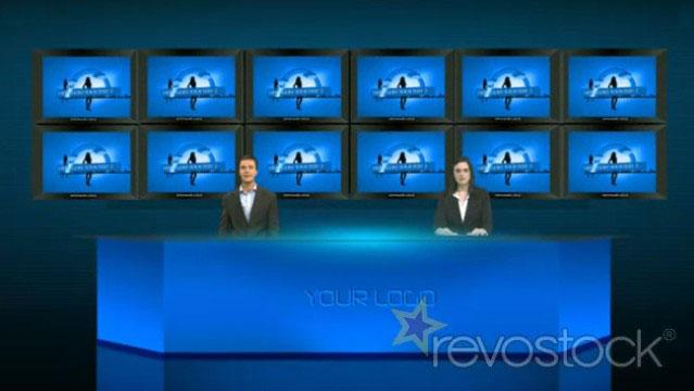 《虚拟演播厅展示AE模板》Virtual Studio-II (Multi-Screens)
