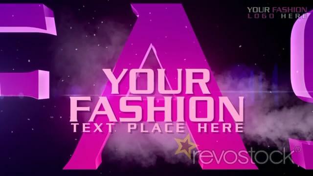 《炫目紫色風光字幕標題AE模板》Fashion TV Opener
