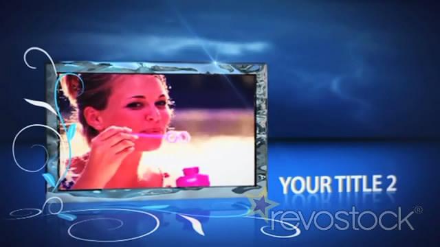 《蓝色空间屏幕视频展示AE模板》Flare Photo Montage