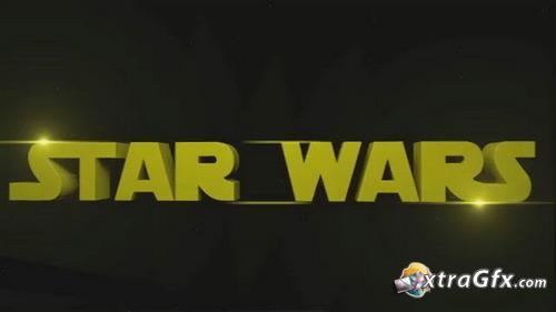《星球大战电影开场字幕AE模板》Star Wars Intro