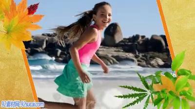 《浪漫夏日》会声会影模板公司企业广告电子相册宣传片头片尾素材