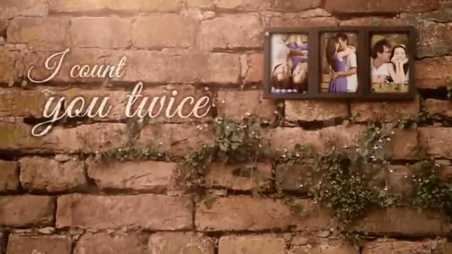 《墙壁相片展示AE模板》Photo fr<x>ame for Three Romantic Pict