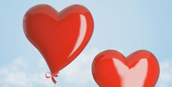 《爱心气球飘起相册展示 AE模板》Valentine Gallery