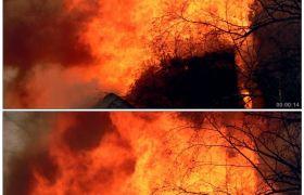 房屋大火 浓烟3 高清实拍视频素材