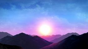 阳光山丘舞台背景高清动态背景视频素材 Peak Hour