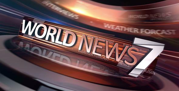《世界新聞電視欄目包裝AE模板》World News Broadcast Package
