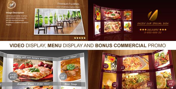 美食菜單產品圖文介紹展示AE模板 New Restaurant Presentation
