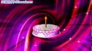 生日蛋糕上插一根蜡烛 炫丽背景高清动态视频素材